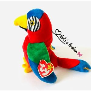 Vintage Ty Beanie Baby Jabber the Parrot